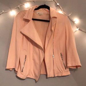 Forever 21 Light peach zipper cotton jacket size L